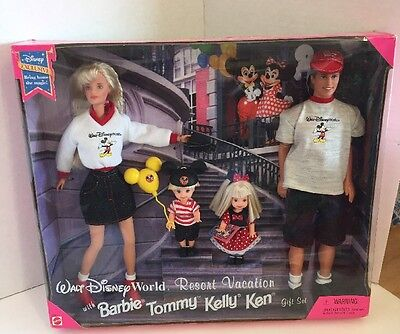 Disneyland Resort Vacation Gift Set Mattel Barbie Tommy Kelly Ken