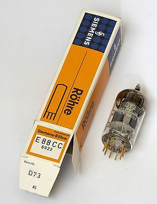 Siemens E88CC 6922 vintage tube, gold pins, Made In Germany NOS