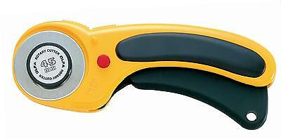 Olfa Deluxe Rotary Cutter, 45 mm For Sewing Quilts Fabric Cutter