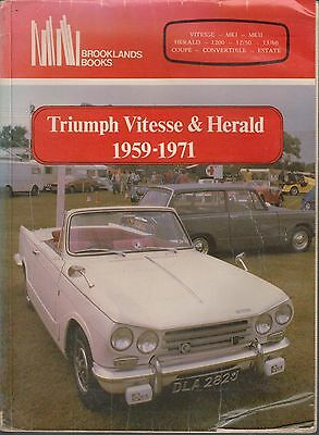 Triumph Herald Vitesse Saloon Coupe Convertible Estate 1959-1971 Road Tests Book