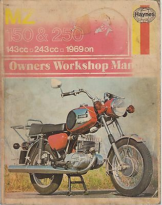 Mz Es150/1 Ts150 Es250/2 Ets250 Ts250 Ts250 Sports 1969 - 1976 Workshop Manual