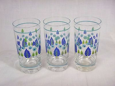 3 Vtg Mid Century Marcrest Swiss Alpine Chalet Tumblers Drinking Bar Glasses