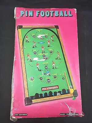 Vintage 1950's Pin Football Bagatelle Game by Kay of London With Original Box