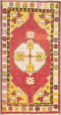 """2'8"""" x 5' Great Antique  Anatolian Oushak Rug, Great Colors."""