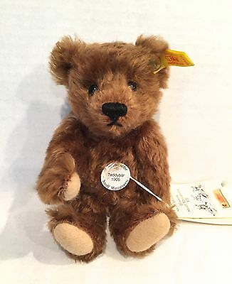 Steiff Teddy Bear Miniature, Replica 1905, Red/brown  Ean 029578