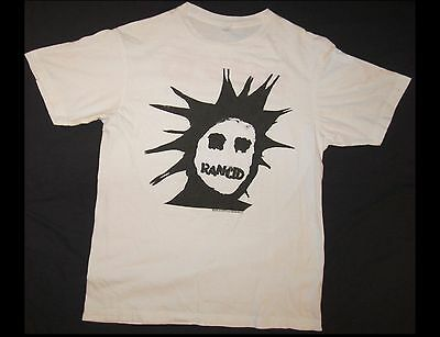 RANCID Let the Dominoes Fall 2009 Adult Size Medium White T-Shirt