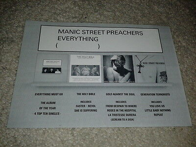Manic Street Preachers Flyer Advertising First Four Albums 1997