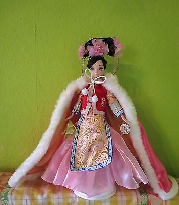 Kurhn Chinese Collector Doll/Puppe Prinzessin Mandschu Qipao traditionell