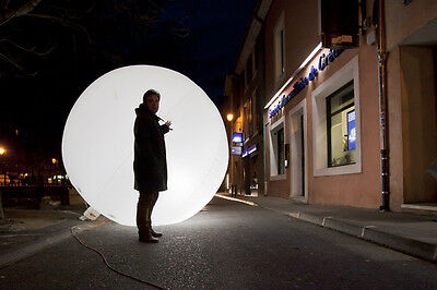 big giant LIGHTING BALLOON ( luminous, commercial, advertising for business )