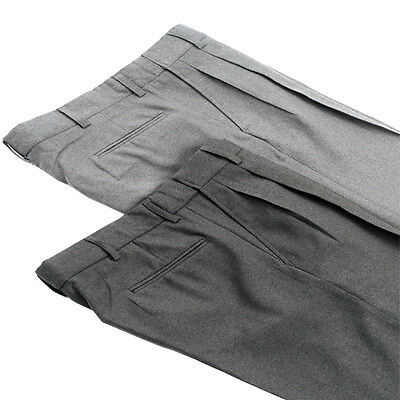 Smitty Pleated Combo Pants with Expansion Waistband - Heather or Charcoal Grey