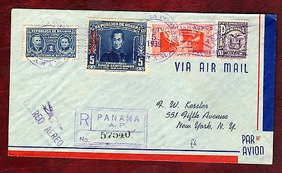 PANAMA STAMPS-Marie Curie stamp on postal cover, 1939