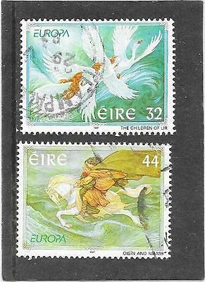 """Stamps: Ireland 1997 """"europa"""" Set Of 2 (G/used)"""
