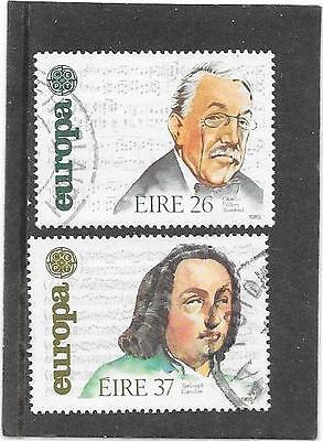 """Stamps: Ireland 1985 """"europa"""" Set Of 2 (F/used)"""