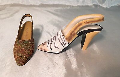 "2 Beautiful Just the Right Shoe by Raine ""Autumn"" Decorative Shoe Figurines GUC"