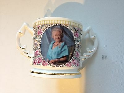 Aynsley Royal Commemorative Loving Cup for 100th birthday of the Queen Mother