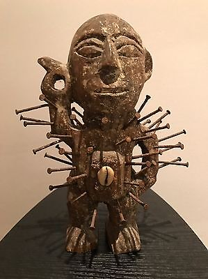 Africa: Congo Power Figure Nkisi Nkondi Wooden African Tribal Art Statue Kongo