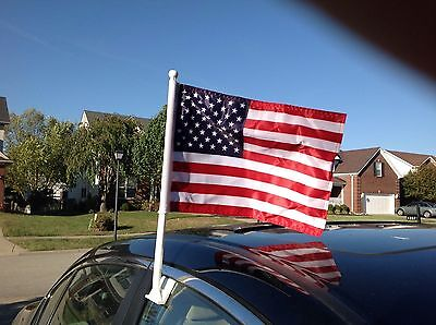 AMERICAN / UNITED STATES / USA US car auto clip window flags – NEW - SET OF TWO