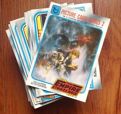 1980 Topps Star Wars Empire Strikes Back Series 2 Full Card Set w/o Stickers