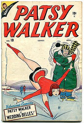 Patsy Walker #10 1947 MILLIE THE MODEL Timely Ice Skating cover vg