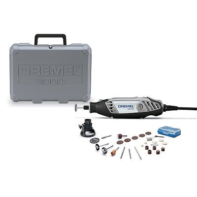 NEW! Dremel 3000-1/26 130W Rotary MultiTool + Case + 26 Piece Accessory Kit