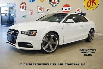 2015 Audi A5 Premium Plus ROOF,NAV,BACK-UP,B&O SYS,HTD LTH,34K! 15 A5 COUPE PREMIUM PLUS QUATTRO,SUNROOF,NAV,HTD LTH,19IN WHLS,34K,WE FINANCE!!