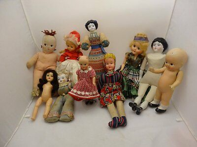 10 Dolls Mixed Lot, Some Fixer Uppers, Read Description