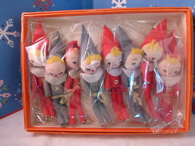 Adorable Vintage Christmas Girl Cloth Face Doll Elf Pixies for Light Strand