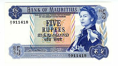 Mauritius ... P-30a ... 5 Rupees ... ND(1967) ... *UNC*