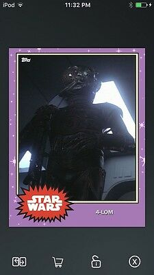 Topps Star Wars Digital Card Trader Preview 4-LOM Base 4 Variant