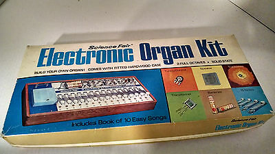 Vintage 1970's Science Fair Tandy Electronic Organ Project Kit No. 28-215