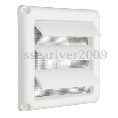"""Plastic Air Vent Grille Cover 3 Flaps Wall Ventilation Grille With Net 6"""""""