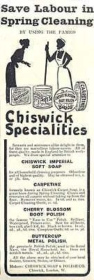 1910 The Chiswick Soap And Polish Company, Vintage Ad