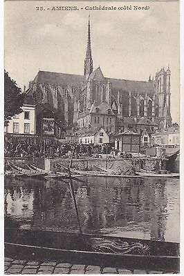 Cpa Amiens Cathedrale (Cote Nord)