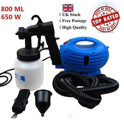 650w Zoom Spray Gun System Electric Paint Sprayer Painting for Fence Bricks UK @