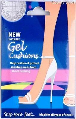 6 packs of gel cushion insoles for use with high heel shoes, re-usable, washable
