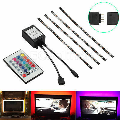 led usb backlight tv hintergrund beleuchtung licht band stripes streifen 48x rgb eur 14 90. Black Bedroom Furniture Sets. Home Design Ideas