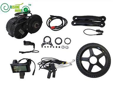 Risunmotor 36V 250W Mid Drive Motor Kit BB:68mm Ebike Electric Bicycle