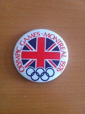 Olympic Games Montreal 1976 Union Jack Design Badge