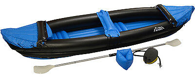 Blue Two Man/Person Inflatable Blow Up Water Sport Kayak /Canoe With Paddle