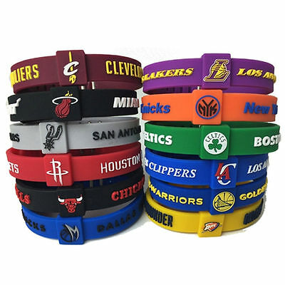 Teams Silicon Bracelet Basketball CLEVELAND CHICAGO ROCKETS adjustable Wristband