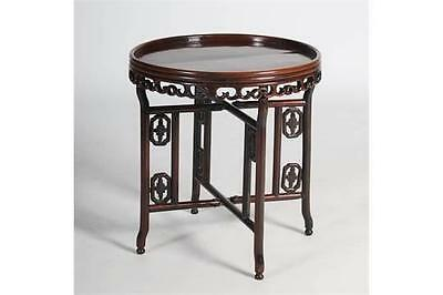 Chinese Late Qing Dynasty Circular Folding Table