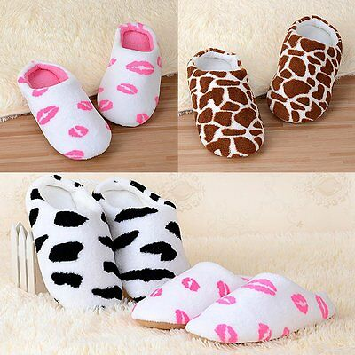 Women Men Winter Warm Slippers Soft Cotton Indoor Couple Bedroom Shoes Non Slip