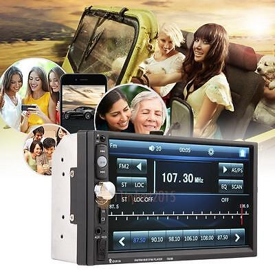 Car MP3 MP5 Player Stereo Touch Head Unit FM Radio Bluetooth USB TF AUX-IN 2Din