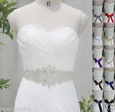 Ivory Belt Czech diamond Crystal Belt with Beaded Rhinestones Bridal sash 99#
