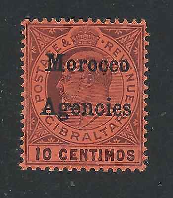 MOROCCO AGENCIES 1905-06 10c DULL PURPLE/RED MNH SG 25 CAT £24