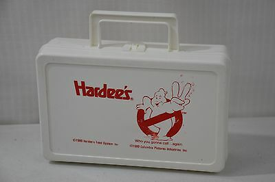 1989 Hardee's Ghostbusters II 2, White Plastic Lunchbox Crayon Box