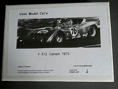 1/24 VMC Ferrari 612 Can Am 1970 GFK Static Kit Neu