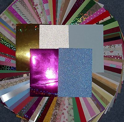 Huge Job Lot Of 100 Assorted A6 Sheets Backing  Card And Paper.