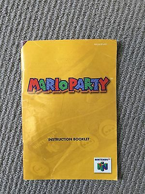 Mario Party Instruction Booklet N64 Manual Only!
