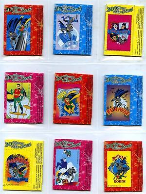 Batman and Robin - Cut Out and Keep Candy Sticks Pkts Complete Set of 20 - 1997